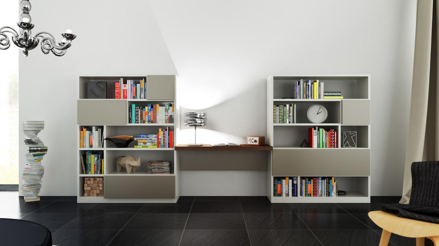 3d model molteni 505 5. Black Bedroom Furniture Sets. Home Design Ideas