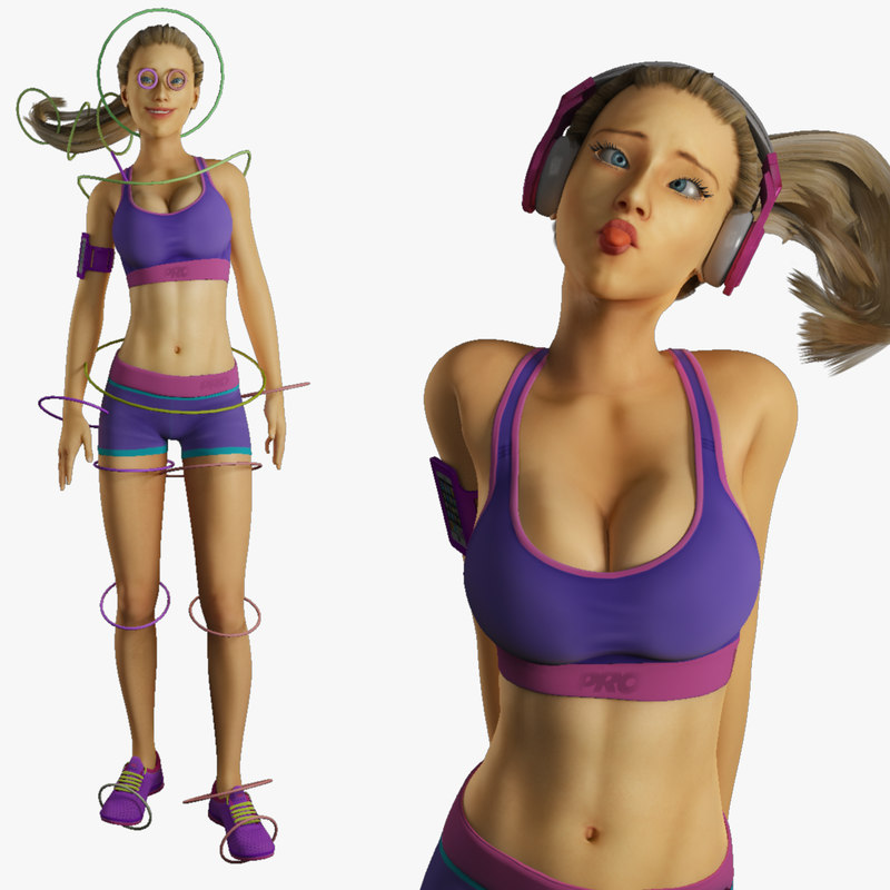 Fitness Model Rigged