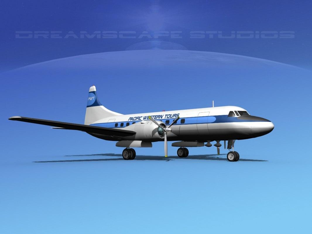 Convair CV 340 Pacific Western Tours