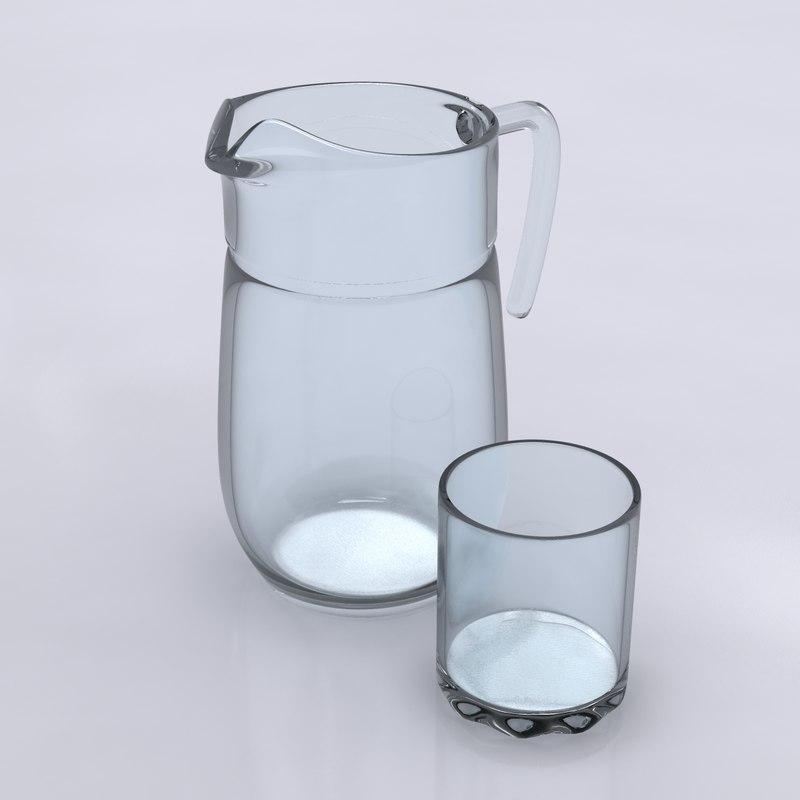 3d pitcher glass model