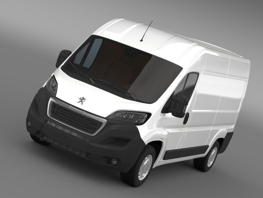 3d model peugeot boxer van l2h2. Black Bedroom Furniture Sets. Home Design Ideas