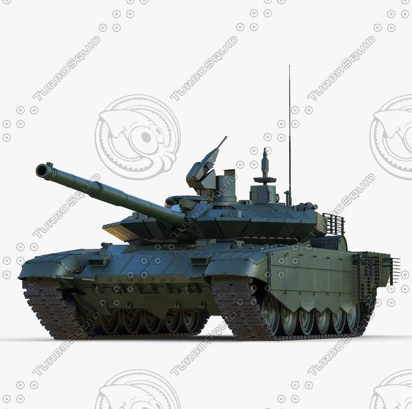 Russian Main Battle Tank T-90SM 3D Models