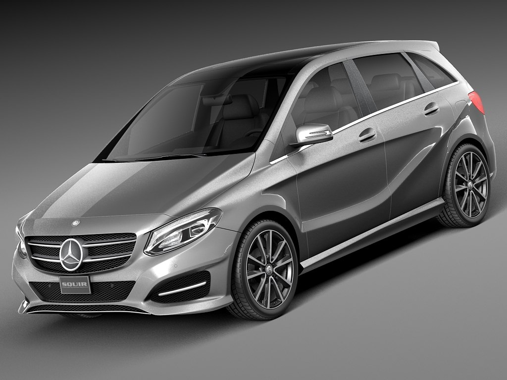 2015 mercedes mercedes benz 3d model for Mercedes benz b class 2015