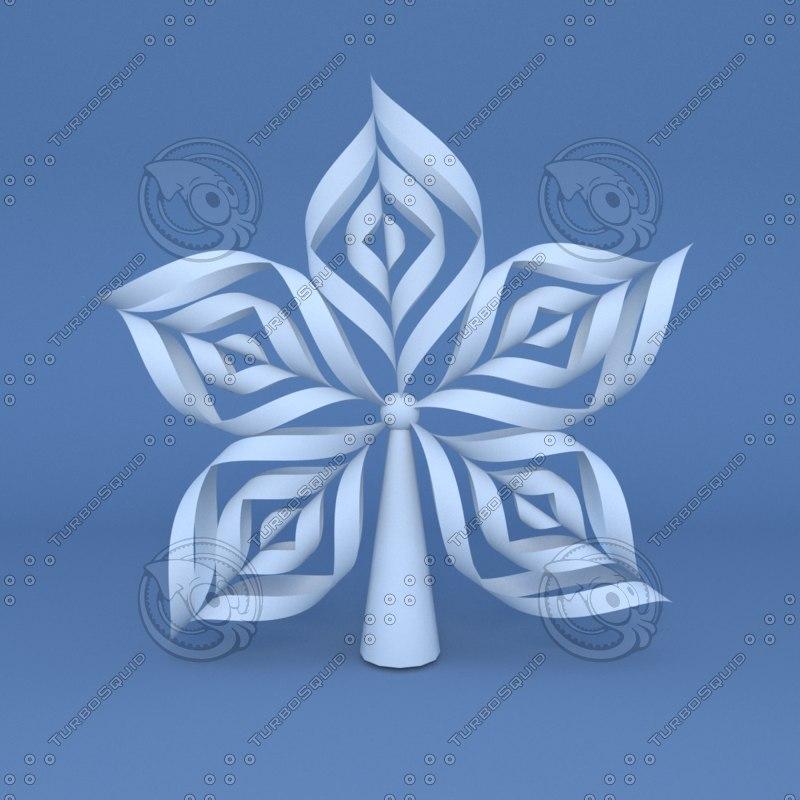 Tree Topper V1 - Origami Snowflake