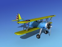 Boeing-Stearman Model 75 3D models