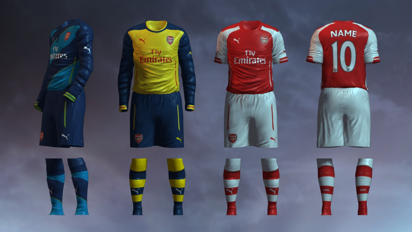 Arsenal FC 2014/2015 Jerseys