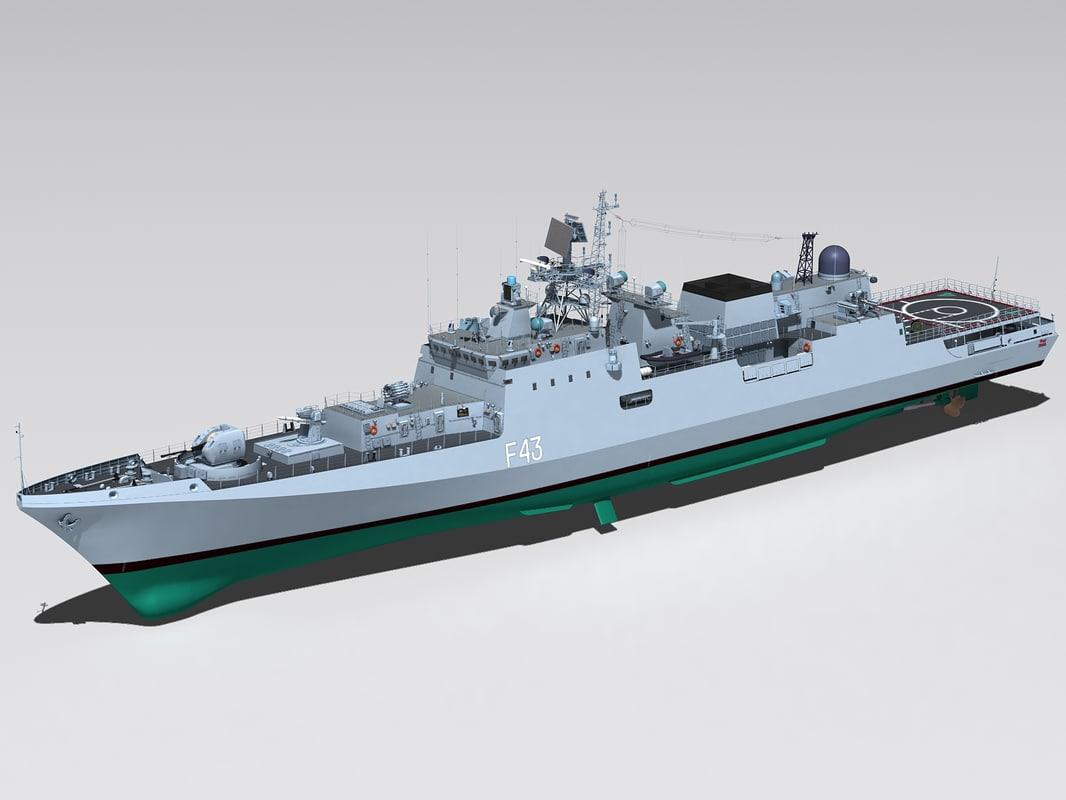 project 11356 ins trishul 3d model