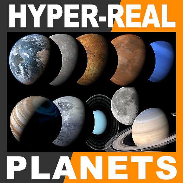 Hyper-Real Planets Pack 2.0 3D Models