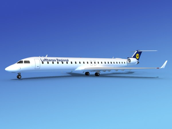Bombardier CRJ900 Lufthansa Regional 3D Models