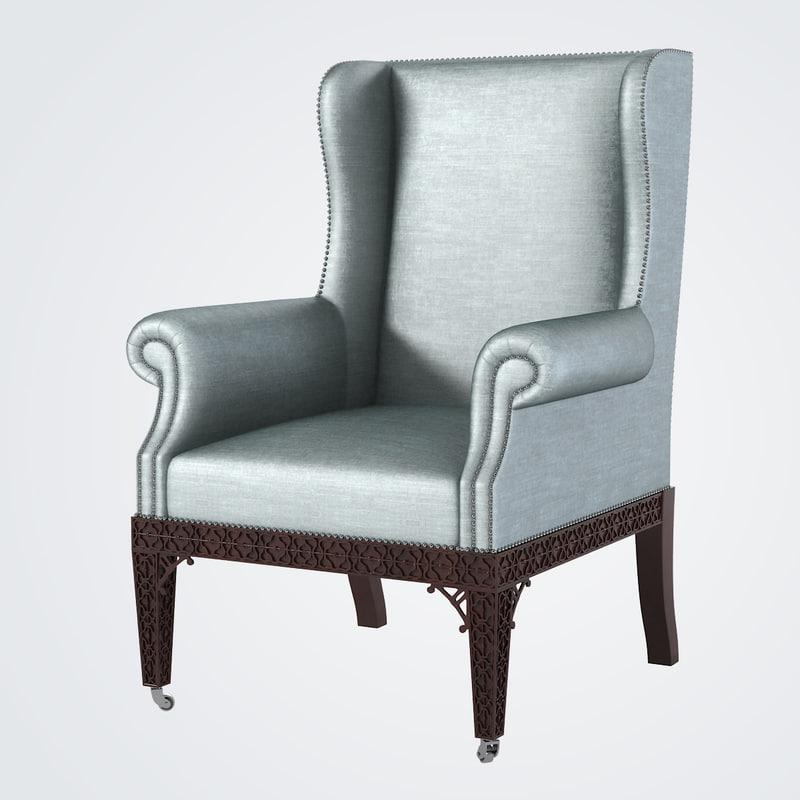 Baker Guinness Wing Chair 6489