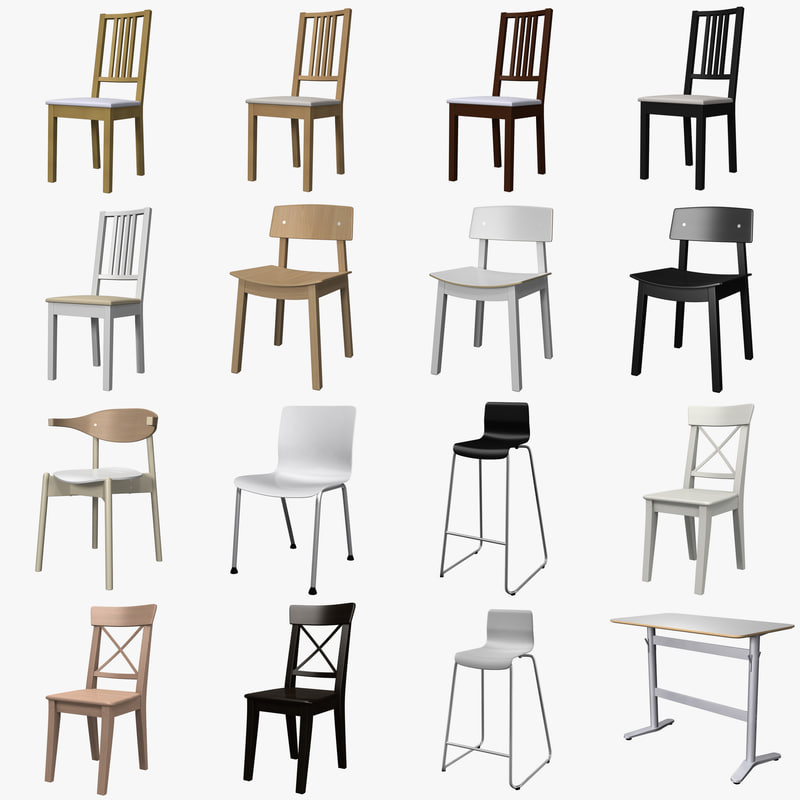 3d Model Ikea Furniture Chair Table