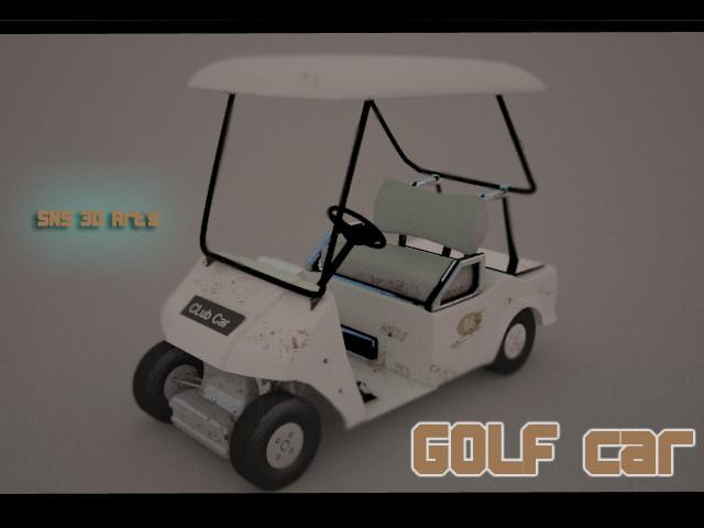 Golf car 3D model sns preseantation.jpg