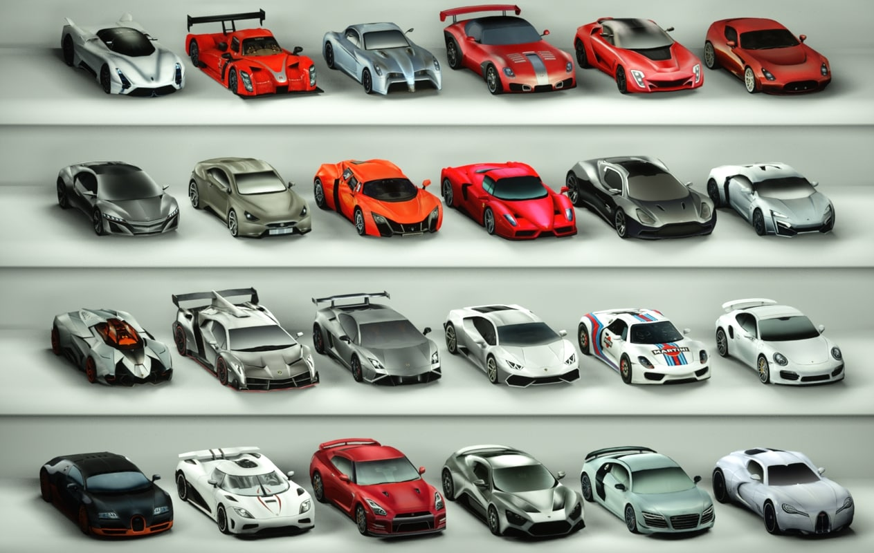 Low poly Surecars collection