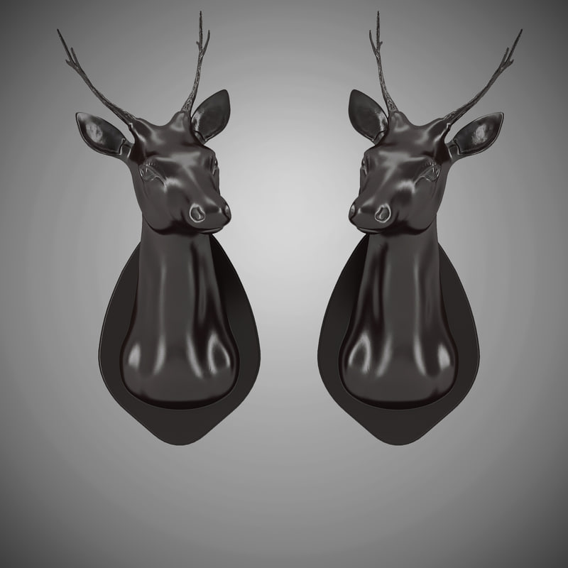Eichholtz Stag Head Set Of 2