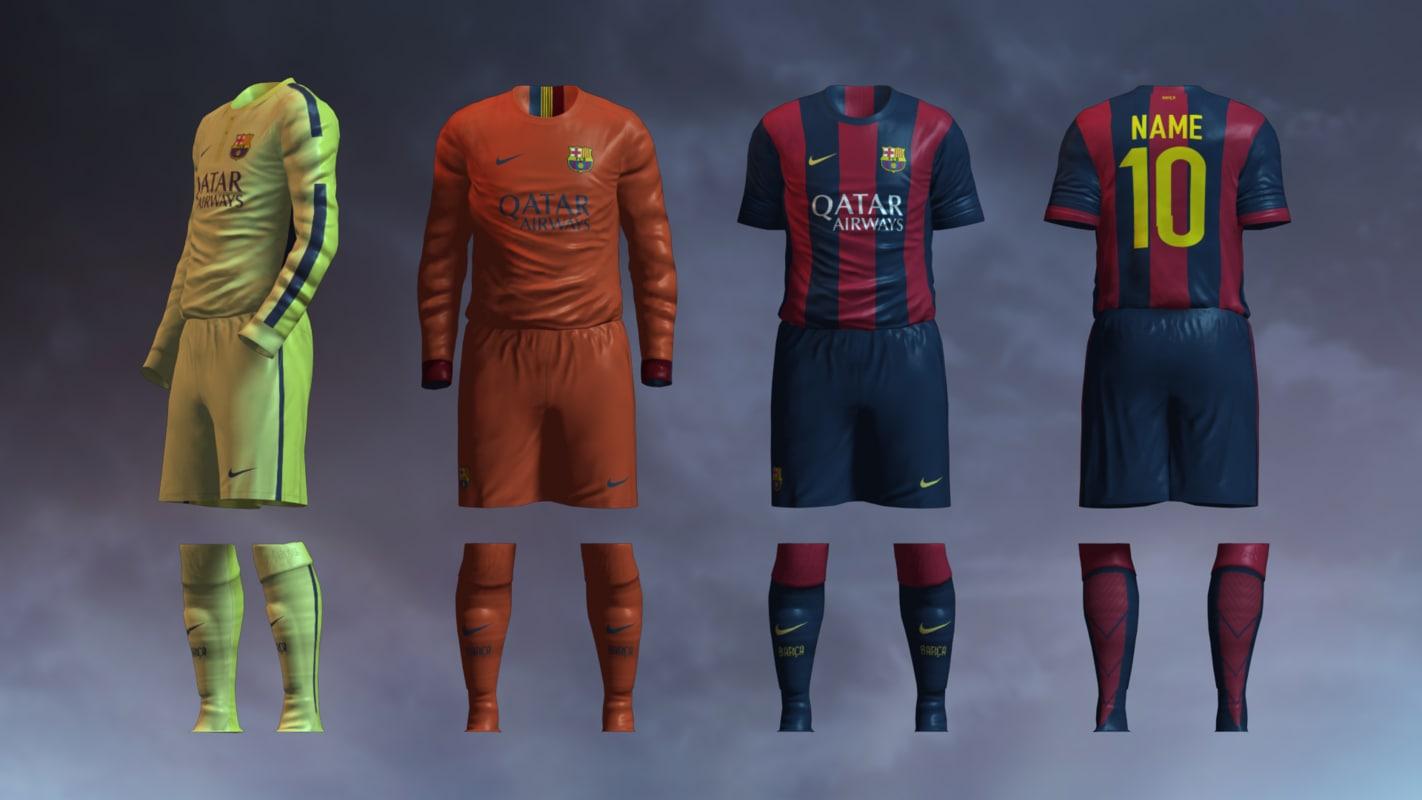 Barcelona FC 2014/2015 Jerseys