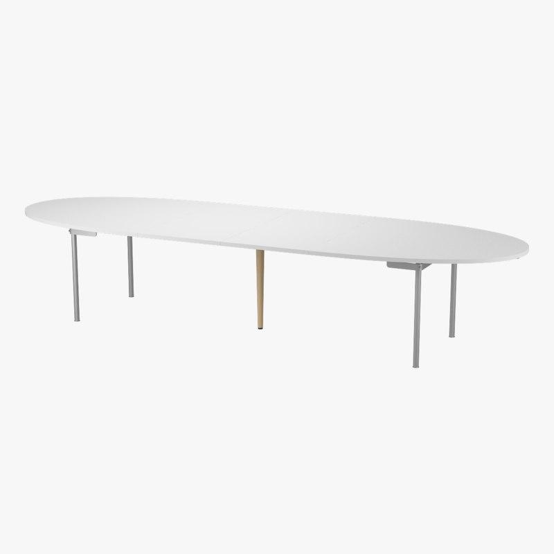 CH336 Dining Table Extended - Hans J. Wegner