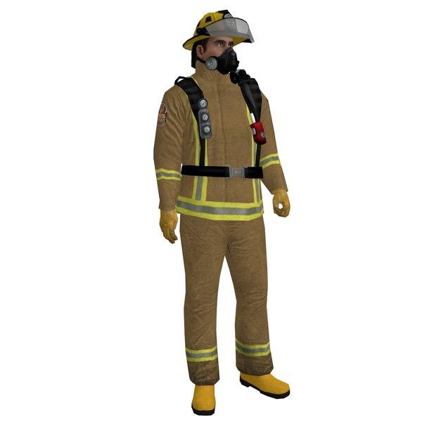 Fireman 2 LOD1 Rigged 3D Models