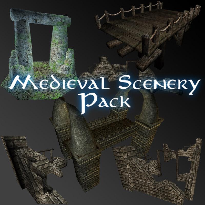 Medieval Scenery Bundle