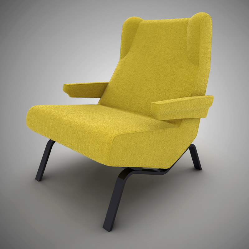 3d armchair ligne roset archi model. Black Bedroom Furniture Sets. Home Design Ideas