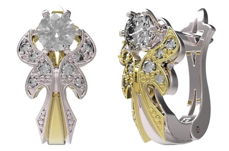 diamond earrings model - photo #15