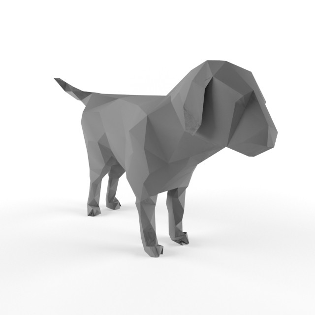Low Poly Puppy Dog Models