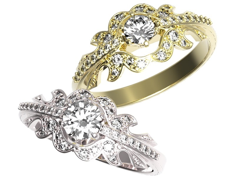 Gold ring with a diamond .jpg