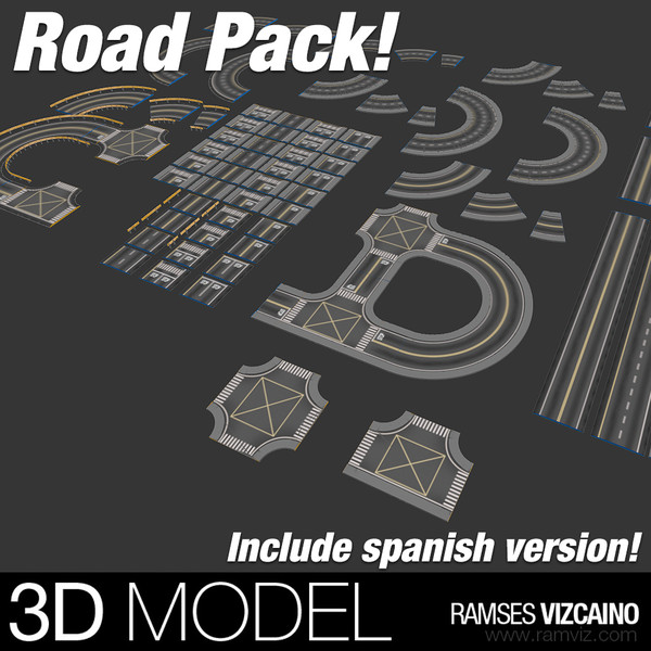 ROAD PACK 3D Models