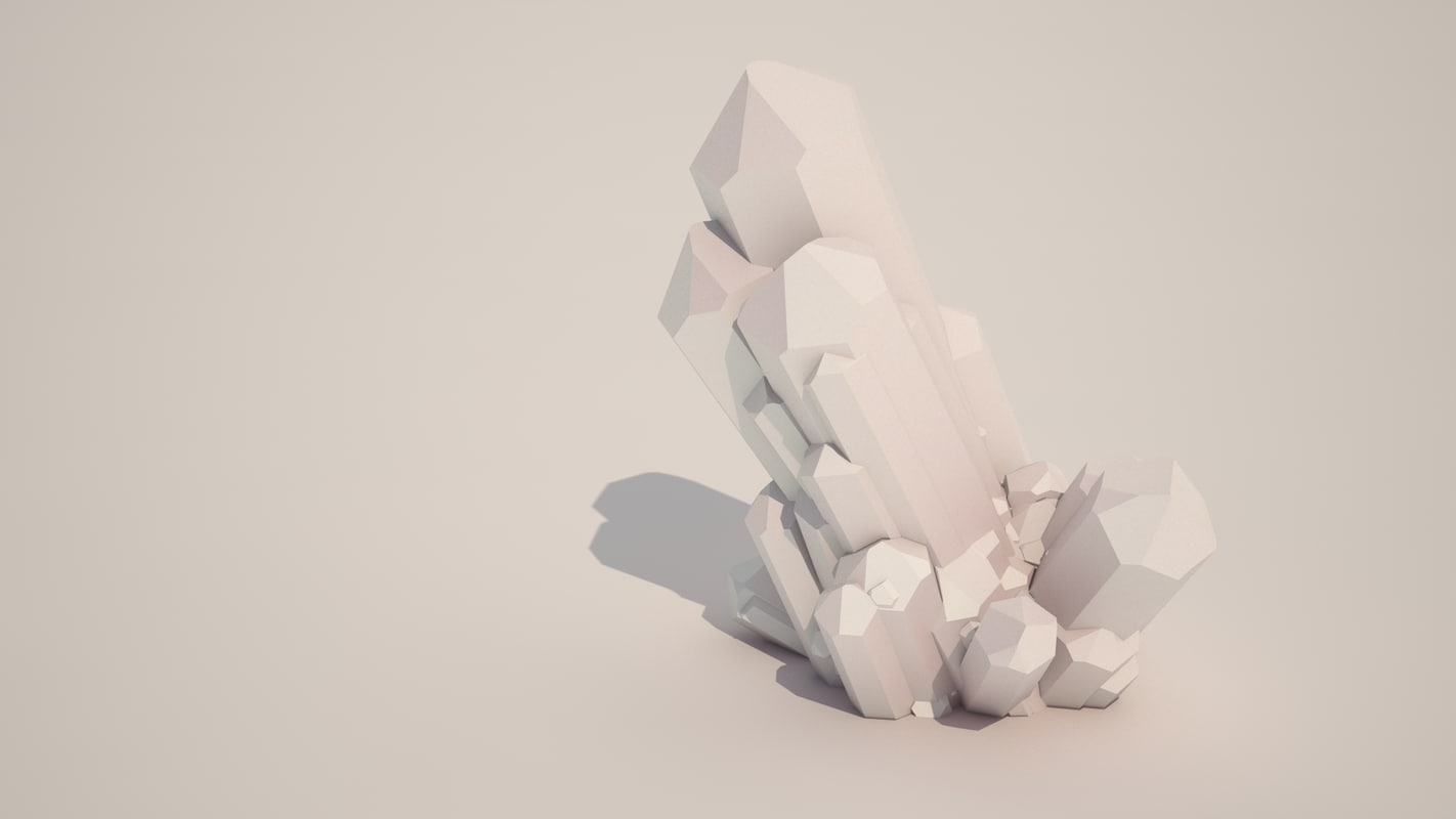 3ds max sci fi crystals