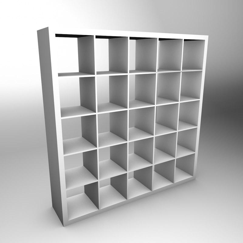 Ikea expedit 3d models - Etagere expedit blanc ...
