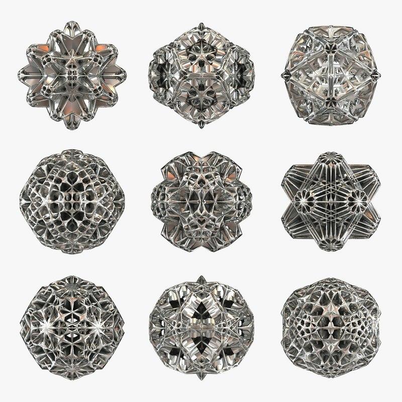 Voronoi Hedra (9 Shapes)
