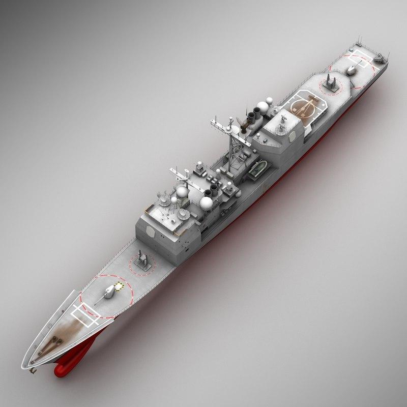 3d uss aegis cruiser cg 47