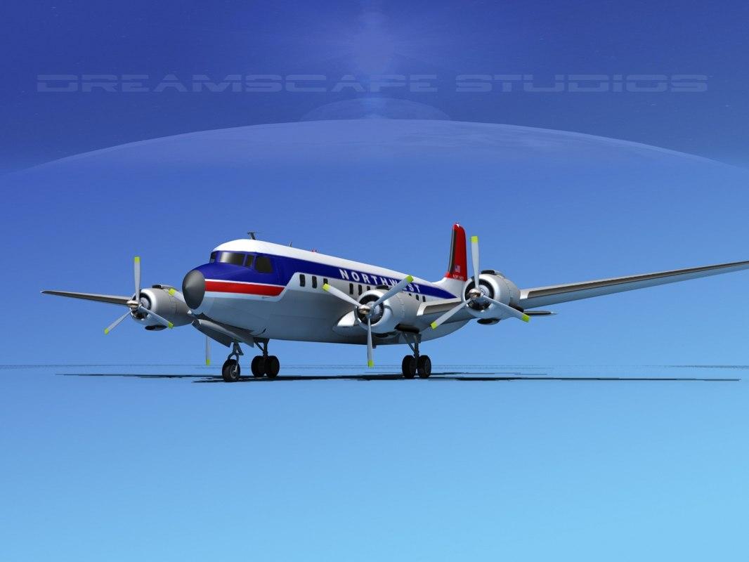 Douglas DC-7B Northwest Airlines