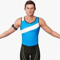 track and field athlete 3D models