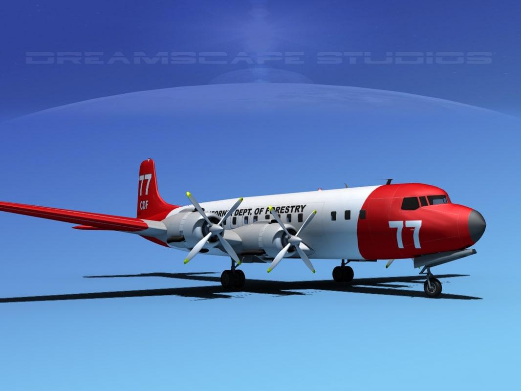 Douglas DC-7C Cal Dept of Forestry 2 0001.jpg