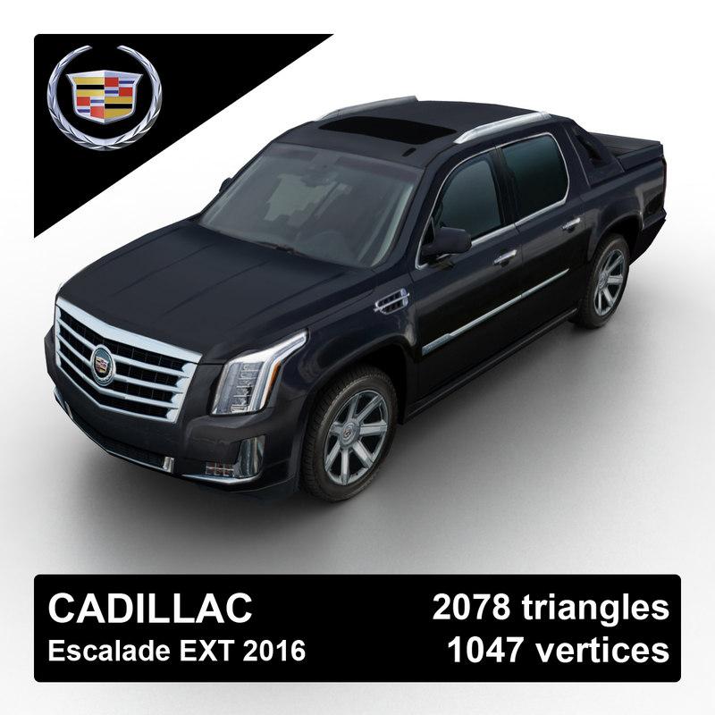 3d Model 2016 Cadillac Escalade Pickup