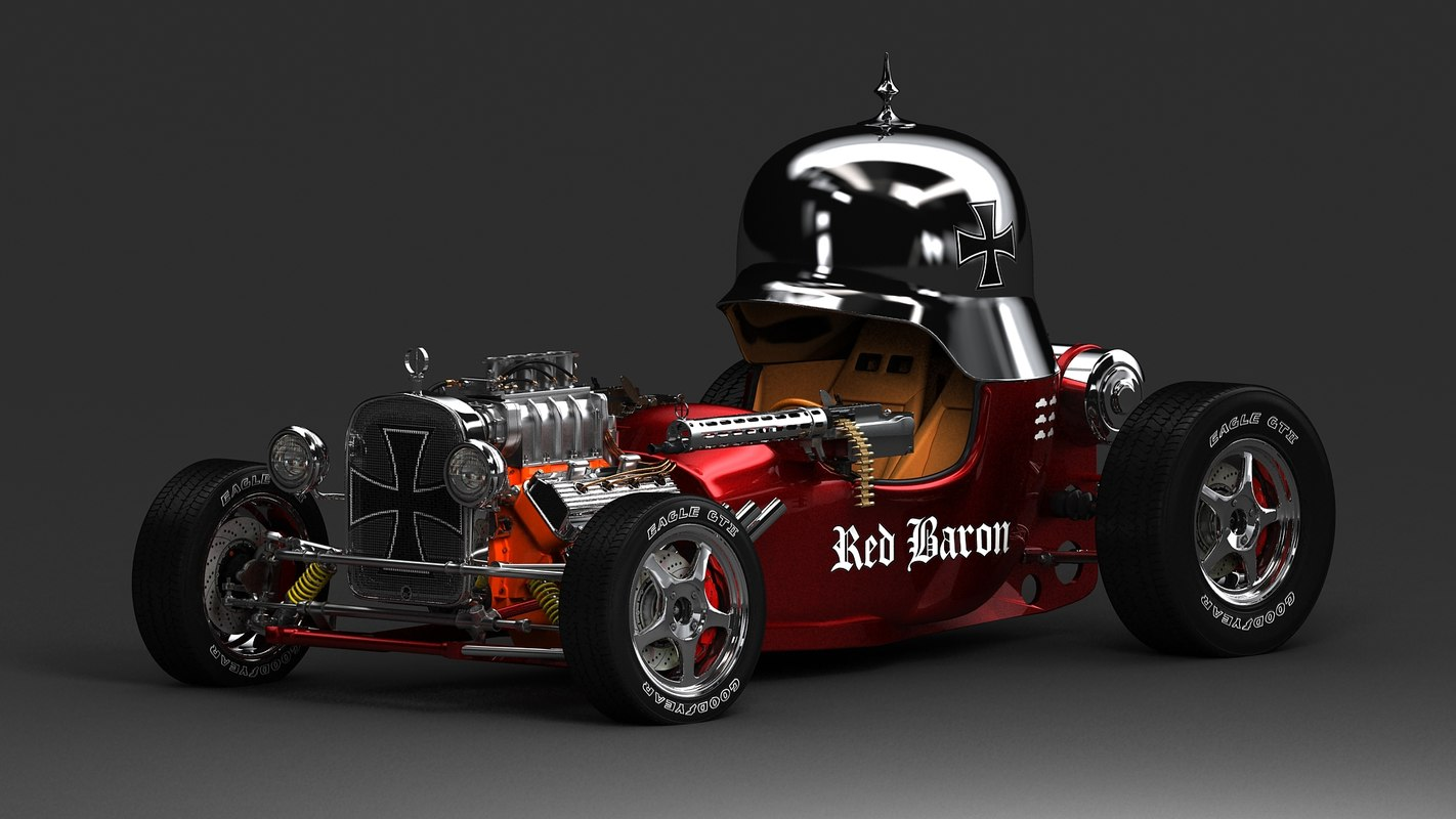 red baron hot rod wallpapers wallskid. Black Bedroom Furniture Sets. Home Design Ideas