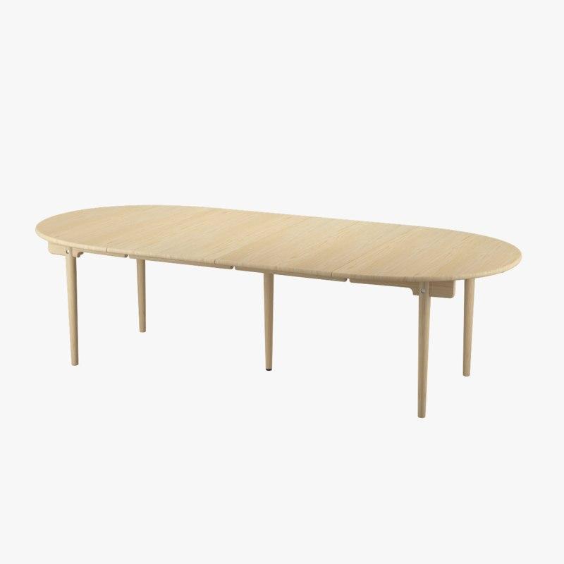 CH337 Dining Table Extended - Hans J. Wegner
