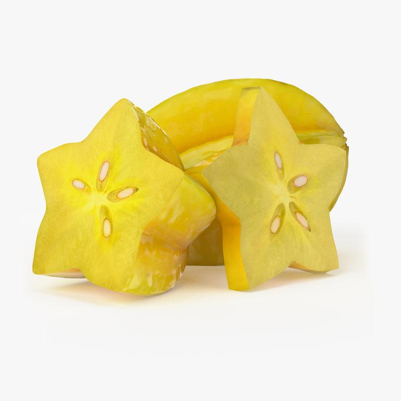 Realistic Starfruit