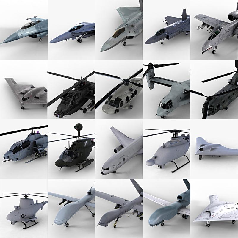 20 USAF Aircrafts