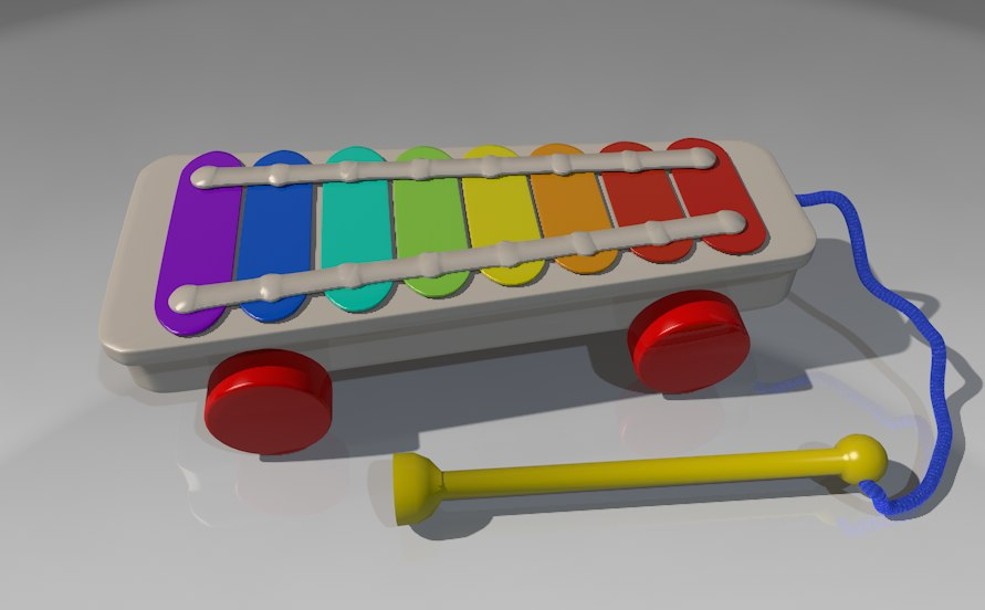 xylophone kids toy 3d x