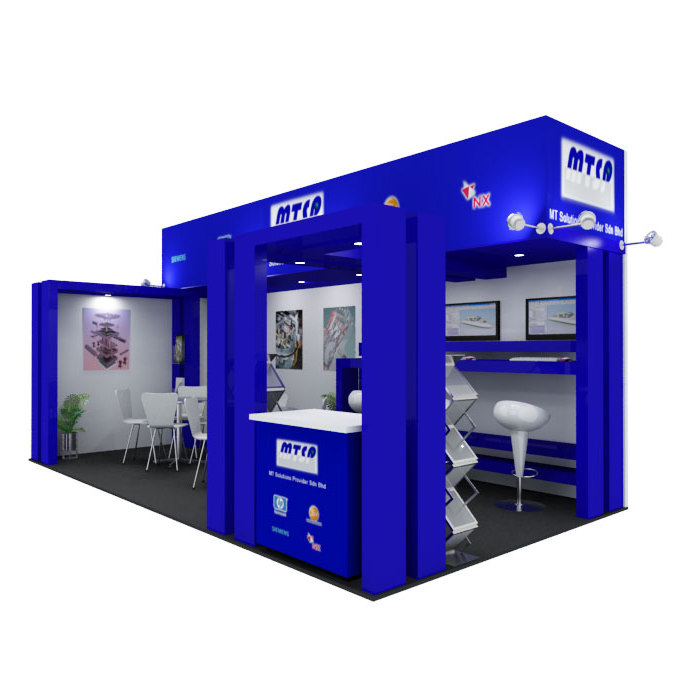 Exhibition Booth Obj : Exhibit booth d max