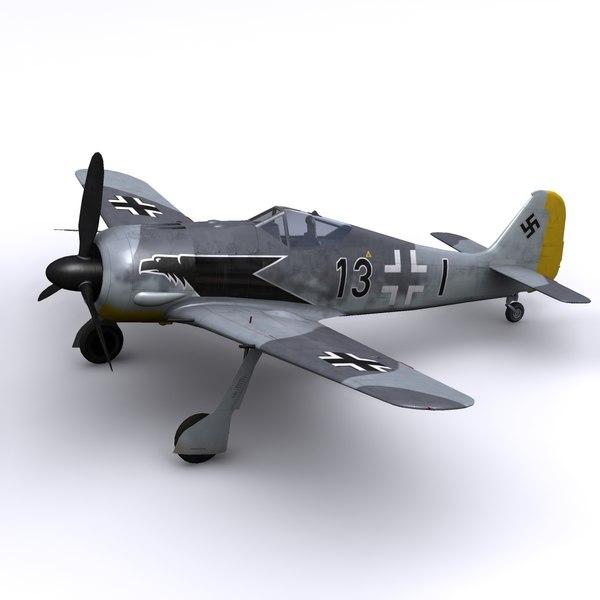 Focke-WUlf FW 190A-3 - JG2 Richtofen, spring 1942 3D Models
