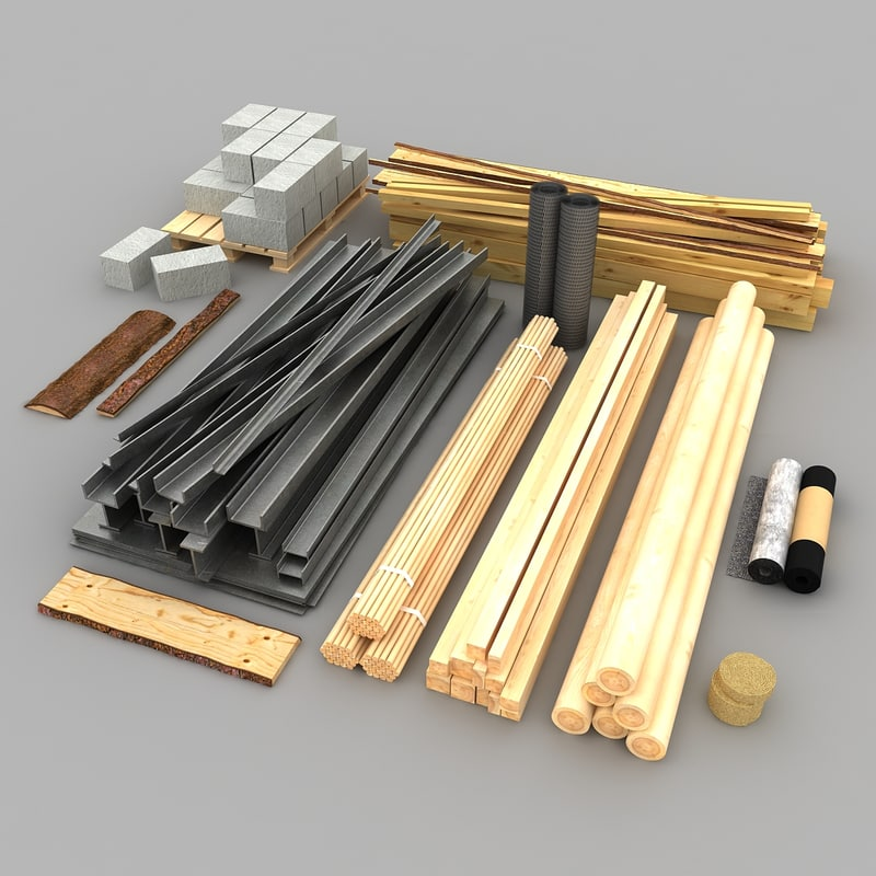 3ds building materials for Model making with waste material