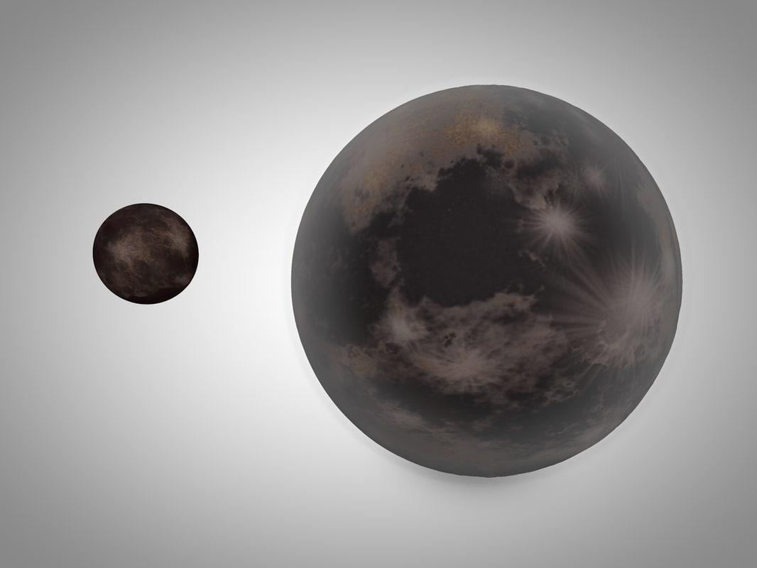 pluto planet 3d 3ds