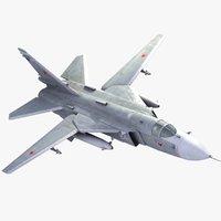 Su-24 3D models