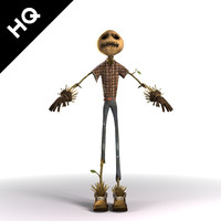 The scarecrow 3D models