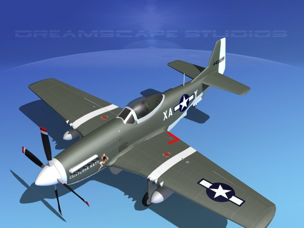 North American P-51D Contessa Katy 3D Models