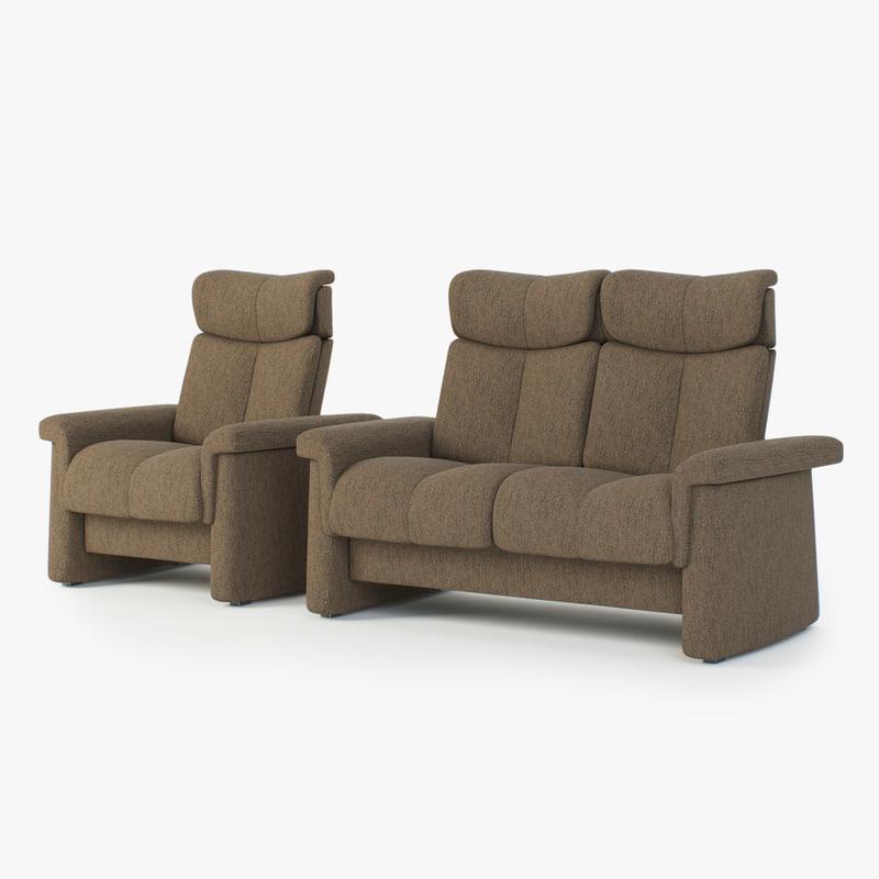 3d Sofas Stressless Legend 2 Seater