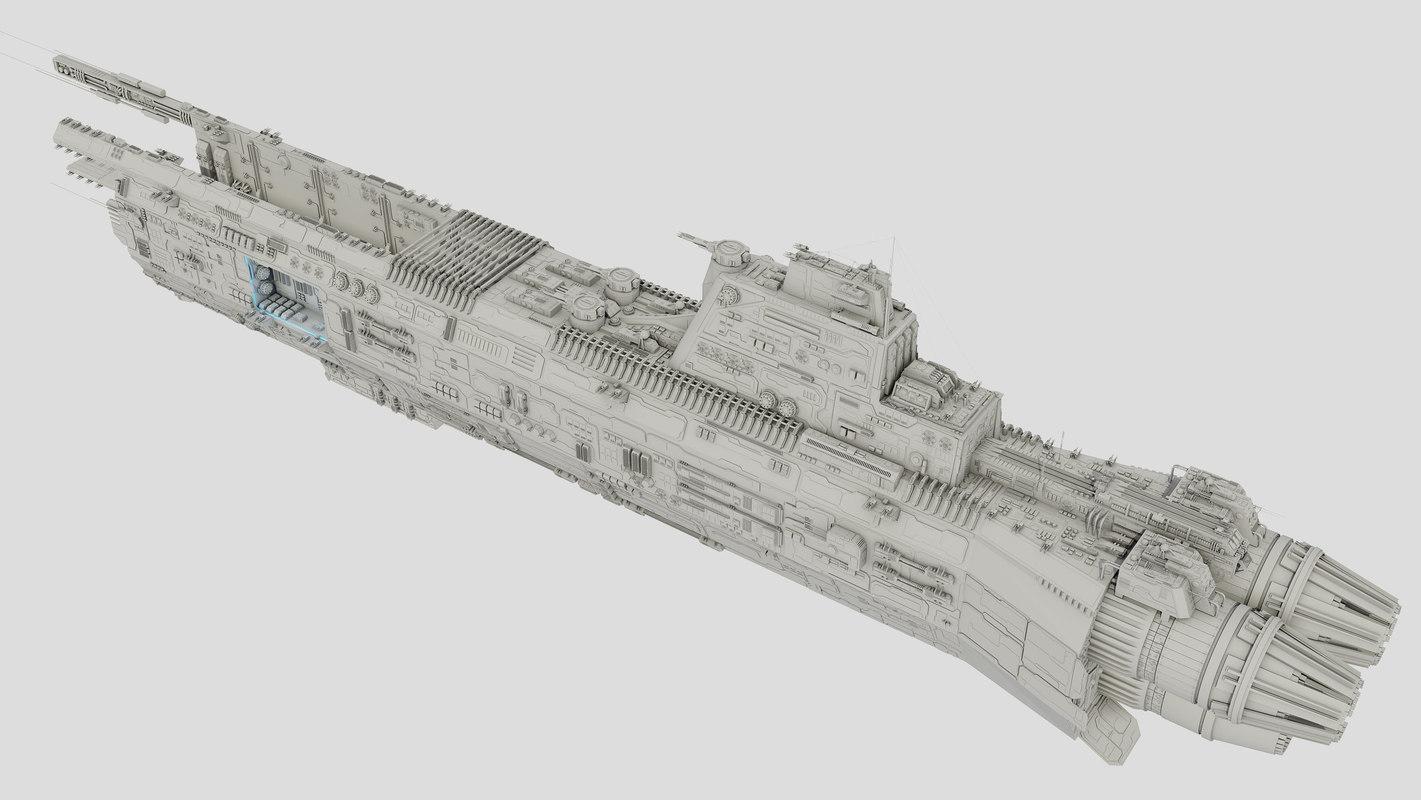 Carrier Spaceship - Saratoga class