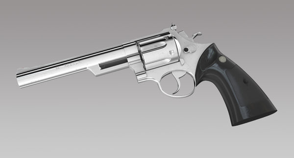 Magnum 44 Handgun 3D Models